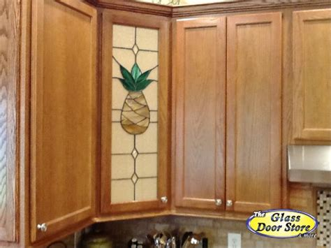 decorative glass kitchen cabinets pineapple stained glass for the kitchen cabinet 6493