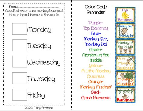 preschool behavior plan printable behavior charts for kindergarten uma printable 611