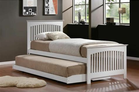 Bed With Pull Out Bed Underneath by New Stunning Toronto 90cm Single White Guest Bed With Pull