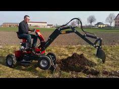fcm walk  digger excavator farm tools homemade tools