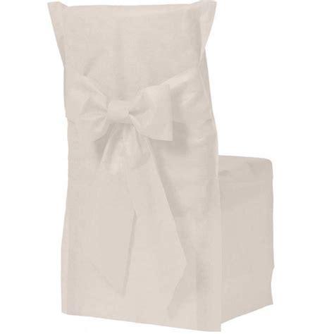 housse de chaise papier housse de chaise couleur ivoire x6