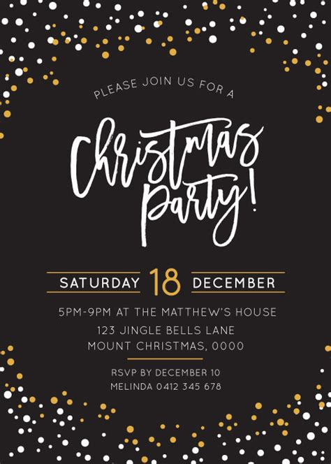 save date template word christmas party