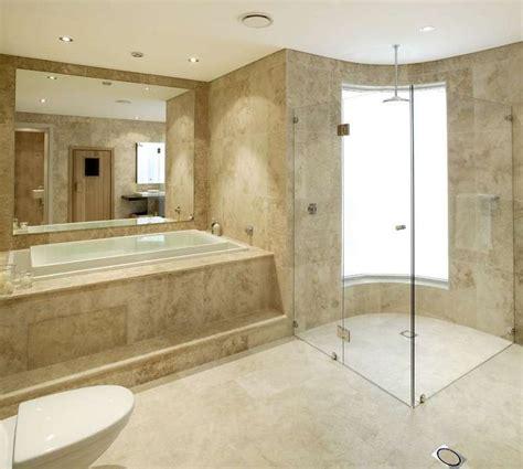 travertin badezimmer fischgraeten muster ideen bilder