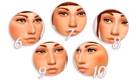 the sims cc finds immortalsims maxis match lookbook 1 hair ea