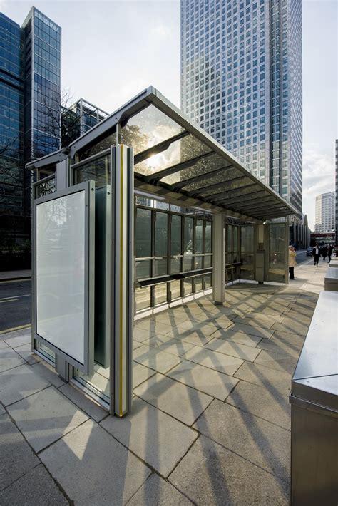 london opens uks  transparent solar bus shelter