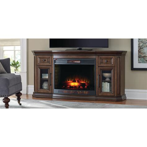 electric fireplace tv stand home depot home decorators collection georgian 65 in bow front