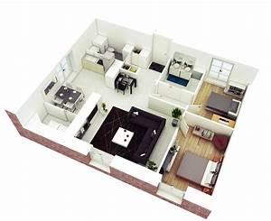 25, More, 2, Bedroom, 3d, Floor, Plans