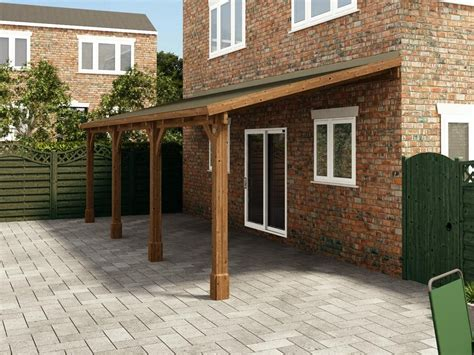 lean to carport brontes lean to carport w2 6m x d7 93m garages