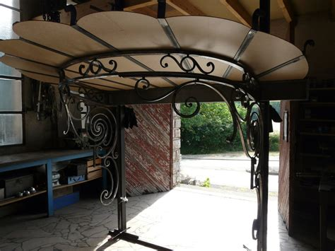 fabriquer une marquise en fer visite de l atelier de ferronnerie d mercier
