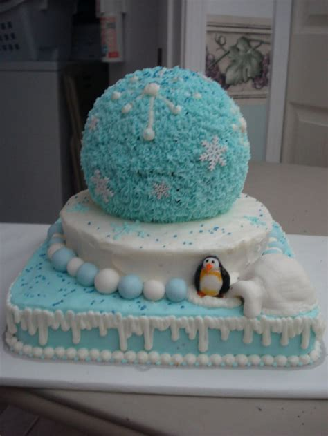 birthday cake winter wonderland