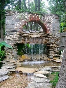 Water fountain landscape ideas backyard design ideas for Backyard water fountains