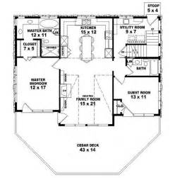 653775 two story 2 bedroom 2 bath country style house plan house plans floor plans home - Two Bedroom Two Bath House Plans