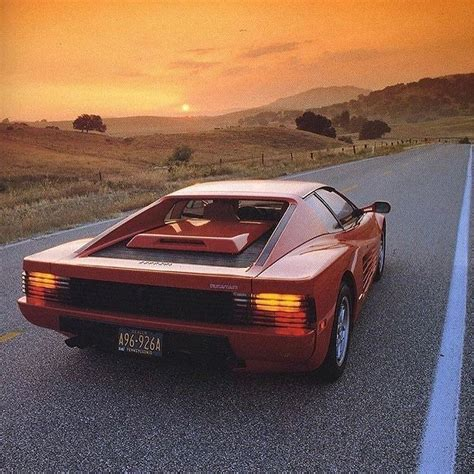 Check out our ferrari red selection for the very best in unique or custom, handmade pieces from our shops. from @car_vintage - 80s Sunset. Ferrari Testarossa #italy #ferrari #Testarossa #pin #twitter # ...