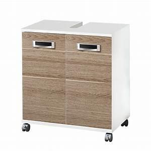 Waschmaschinenschrank Mit Türen : waschbeckenunterschrank granby mit zwei t ren weiss eiche grau dekor ~ Eleganceandgraceweddings.com Haus und Dekorationen