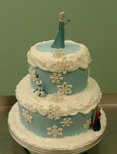 Disney Frozen Theme Birthday Cake The Characters Were