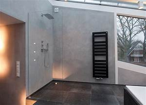 Moderne Wandgestaltung Bad : naturstein trifft kalkputz modern badezimmer hamburg von thomas kampeter wandgestaltung ~ Sanjose-hotels-ca.com Haus und Dekorationen