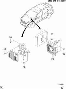 Chevrolet Aveo Bracket  Control Module  Transmission