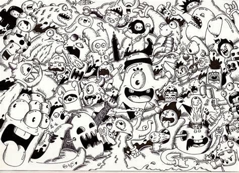 Random Doodle #9 (monster Invasion) By Redstar94