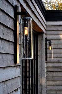 Outdoor Wall Lamp Dome Black Aluminum And Clear Glass