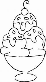 Ice Cream Coloring Pages Sun Flower sketch template