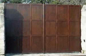 Portail 4 Metres 2 Vantaux : portail fer plein portail alu 4m50 maison infos ~ Edinachiropracticcenter.com Idées de Décoration