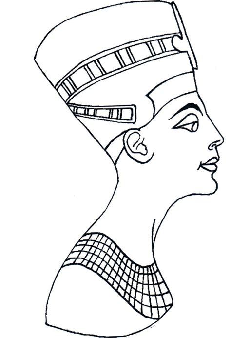 nefertiti regina egizia disegni da colorare  disegni