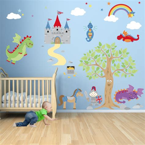 stickers chambres enchanted royal knights and nursery wall stickers