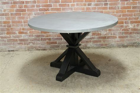 Round Zinc Table   ECustomFinishes