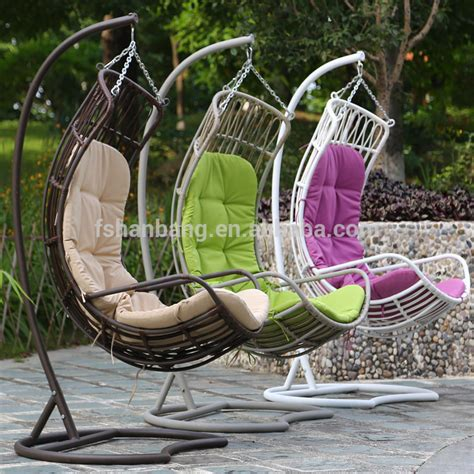 balcony woven big thick rattan swing chair view swing