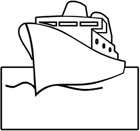 Boat Drawing Outline by Ship Outline Clip At Clker Vector Clip