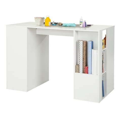 counter height desk with storage south shore crea counter height craft table with storage