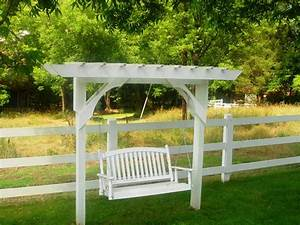 Custom Arbors Pergolas Yard Furniture Swing Image Frompo Pergola Swing Plans Images