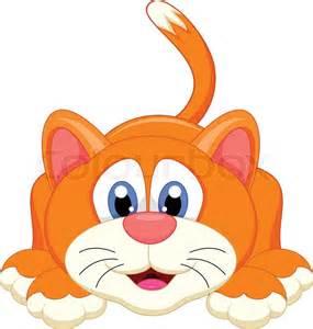 Cute Cartoon Cat Vector