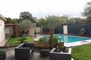 amnagement de jardin avec piscine avec piscine a With good amenagement autour piscine bois 12 exotique paysage
