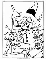Wizard Oz Coloring Scarecrow Tin Witch Wicked Drawing Colouring Printable Different Dorothy Land Being Monkeys Princess Situations Buddy Trouble Pair sketch template