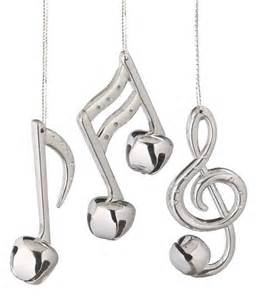 silver bell musical note ornament diy crafts