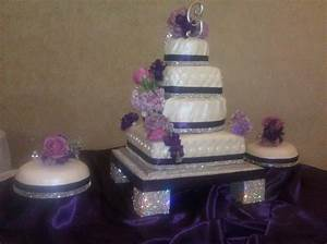 17 Best ideas about Lavender Square Shaped Wedding Cakes ...