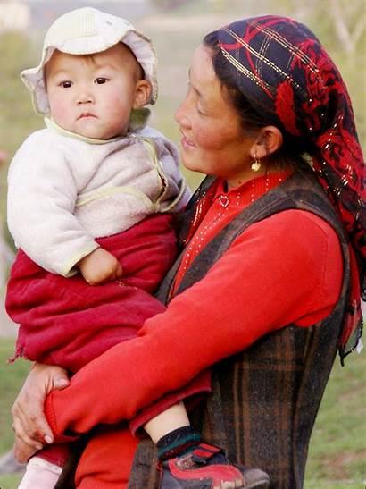 Kazakhstan Child Kazakh Names Traditional Mother Children