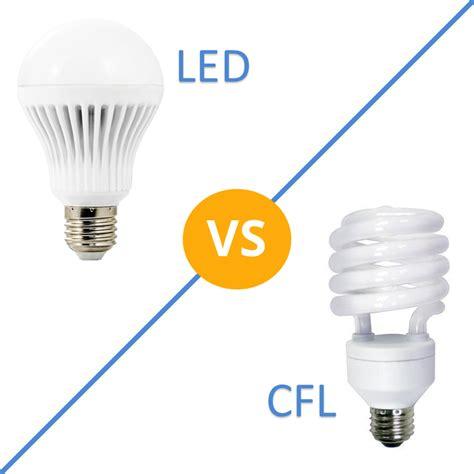 led light bulb vs cfl led vs cfl bulbs which is more