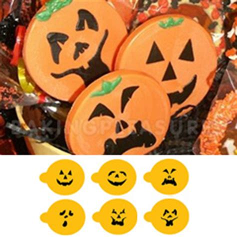 mini halloween pumpkin faces stencils