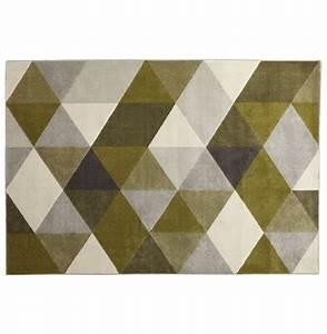 tapis design grafik grand tapis de salon aux tons verts With tapis design avec canapé 160 cm