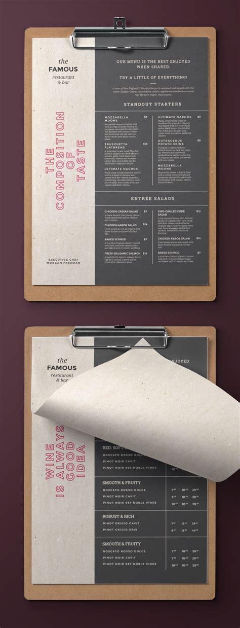 elegant  simple restaurant menu trendy  easy