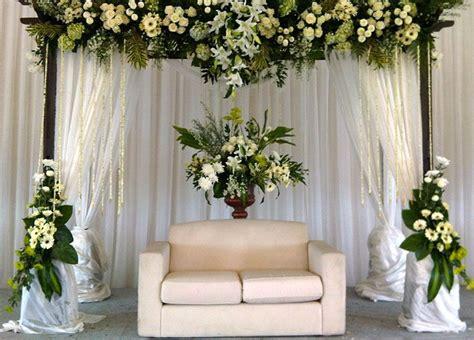 dekorasi sederhana  akad nikah  rumah