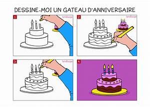 Dessin Gateau D Anniversaire : apprendre dessiner un g teau d 39 anniversaire en 3 tapes ~ Louise-bijoux.com Idées de Décoration