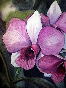 Orchid Painting by Irina Sztukowski