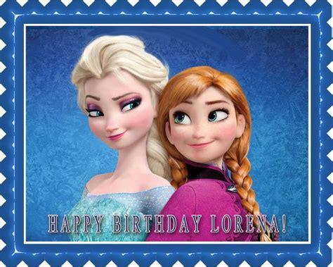 frozen anna  elsa edible cake  cupcake topper