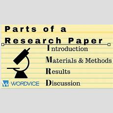 Imrd The Parts Of A Research Paper Youtube