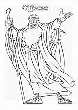 Moses Coloring Pages Prophet Printable Sea Craft Colorluna Burning Adult Jr sketch template