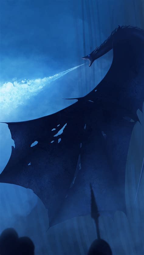 white walker ice dragon game  thrones wallpapers hd