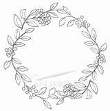 Wreath Leaf Fall Coloring Drawing Embroidery Laurel Floral Patterns Paint Justpaintitblog Template Flowers Leaves Basteln Blumen Papier Sheets Vorlagen Herbst sketch template